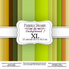 "Double-sided scrapbooking paper set ""Backgrounds 3 XL"", 12""x12"""
