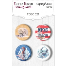 "Flair buttons.  Set of 4pcs #321 ""Sea Soul"""