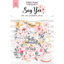 "Set of die cuts ""Say Yes"", 65 pcs"