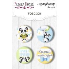 Flair buttons.  Set of 4pcs #329