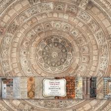 """Kahepoolse disainpaberi komplekt """"Heritage Texture"""", 30x30 cm"""