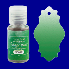 "Dry paint ""Magic paint"" color ""Emerald green"", 15ml"