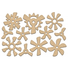 Set of mdf elements for decorating #210