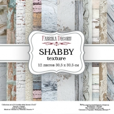 "Double-sided scrapbooking paper set ""Shabby texture"", 12""x 12"" , Fabrika Deсoru"