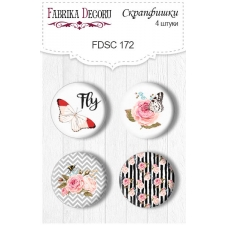 Flair buttons. Set of 4pcs #172