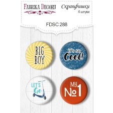 Flair buttons. Set of 4pcs #288