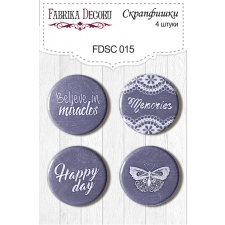 Flair buttons.  Set of 4pcs #015