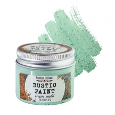 Rustic paint. Color Green mold