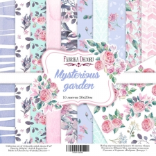 "Double-sided scrapbooking paper set ""Mysterious garden"", 8""x 8"" , Fabrika Decoru"