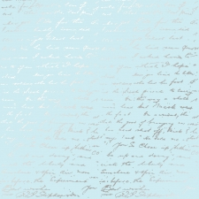 "Embossed paper sheet ""Silver Text Blue"""