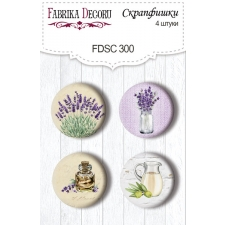 "Flair buttons. Set of 4pcs #300 ""Lavender Provence"""