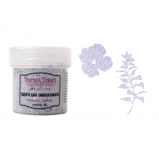 Embossing powder with glitter. Color Gentle lilac