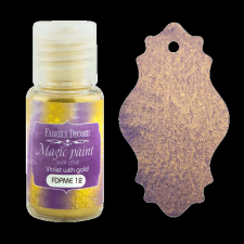 "Dry paint ""Magic paint with effect"" color ""Violet with gold"", 15ml"