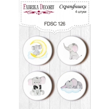"Flair buttons. Set of 4pcs #126 ""My Little Baby Boy"""