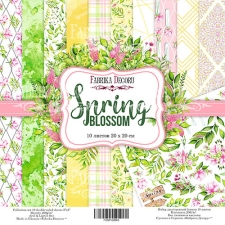 "Double-sided scrapbooking paper set ""Spring Blossom"", 8""x8"", Fabrika Decoru"