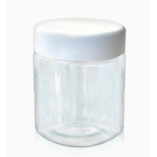 Transparent pot with a plastic lid 150 ml