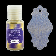 "Dry paint ""Magic paint with effect"" color ""Indigo with gold"", 15ml"