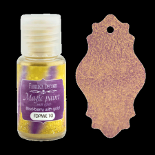 "Dry paint ""Magic paint with effect"" color ""Blackberry with gold"", 15ml"
