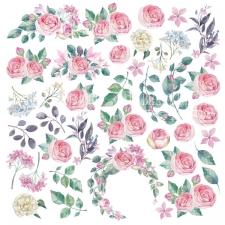 """Лист с картинками для вырезания """"Mysterious Garden"""""""