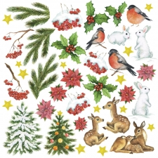 "Decorative sheet for cutting ""Smile of Winter"""