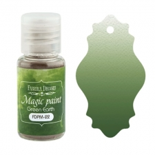 "Dry paint ""Magic paint"" color ""Green Earth"", 15ml"