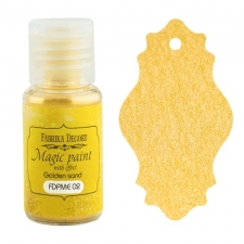 "Dry paint ""Magic paint with effect"" color ""Golden Sand"", 15ml"