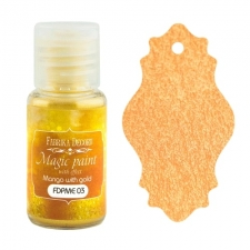 "Dry paint ""Magic paint with effect"" color ""Mango with Gold"", 15ml"