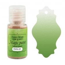"Dry paint ""Magic paint"" color ""Yellow Green"", 15ml"