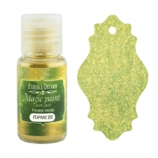 "Dry paint ""Magic paint with effect"" color ""Forest Moss"", 15ml"