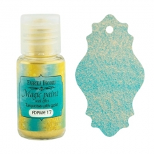"Dry paint ""Magic paint with effect"" color ""Turquoise with Gold"", 15ml"