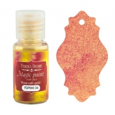 "Dry paint ""Magic paint with effect"" color ""Rose with Gold"", 15ml"