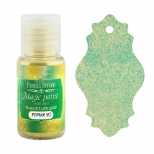 "Dry paint ""Magic paint with effect"" color ""Emerald with Gold"", 15ml"