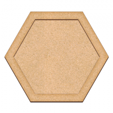 Art board Hexagon 29х25cm + support