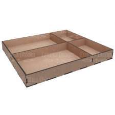 MixBox Organizer 4 cells 25х30x3,3cm