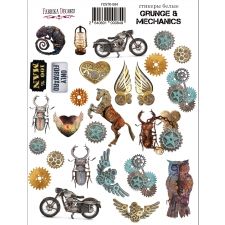 "Kit of stickers #084, ""Grunge & Mechanics"""