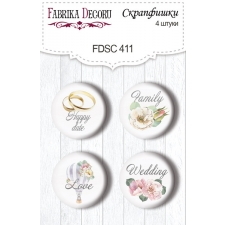 "Flair buttons. Set of 4pcs #411 ""Walking on Clouds"""