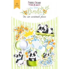 "Set of die cuts ""My Little Panda Boy"", 45 pcs"