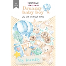 "Set of die cuts ""Dreamy Baby Boy"", 55 pcs"