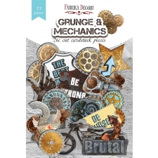 "Set of die cuts ""Grunge & Mechanics"", 77 pcs"