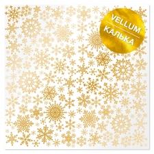 "Vellum kuldse mustriga ""Golden Snowflakes"""