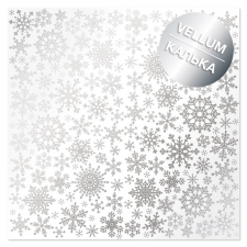 "Silver foiled vellum sheet ""Silver Snowflakes"""
