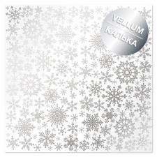 """Лист кальки (веллум) с фольгированием """"Silver Snowflakes"""""""