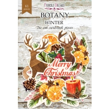 "Set of die cuts ""Botany Winter"", 61 pcs"