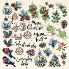 """Decorative sheet for cutting """"The Spirit of Christmas"""""""