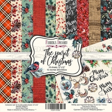 """Double-sided scrapbooking paper set """"The Spirit of Christmas"""", 12""""x12"""""""