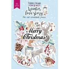 "Set of die cuts ""Winter Love Story"", 61 pcs"