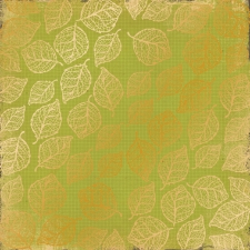 "Sheet of single-sided paper embossed by golden foil ""Golden Delicate Leaves Botany Summer"""