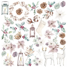 "Decorative sheet for cutting ""Winter Love Story"""