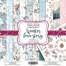 "Double-sided scrapbooking paper set ""Winter Love Story"", 8""x8"""