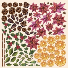 "Decorative sheet for cutting ""Botany Winter"""